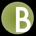 Capital B in a circle